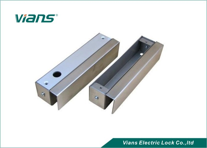 Electronic U Shaped Metal Bracket For Bolt Lock Frameless Glass Door