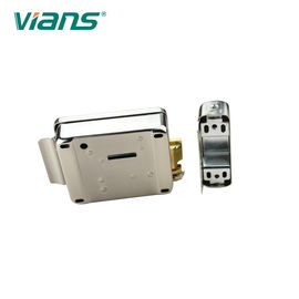 Double Cylinders Elecrtic Rim Door Lock Fail Secure Plating 12V With Push Button